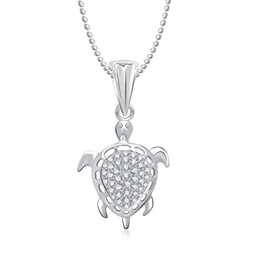 MEENAZ SOLITAIRE PENDANT SILVER PLATED DESIGNER WITH CHAIN FOR MEN AND WOMEN PS 243