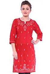ADA Lucknowi Chikan Handmade Ethnic Yoga dress Tunic Women Kurti Kurta S99107