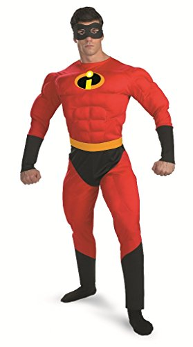 Mr Incredible Deluxe Muscle Costume - Size: Fits Chest Sizes 42 - 46