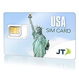 Telestial Unlimited USA SIM Card with Unlimited Domestic Talk, Text and LTE Data + $10.00 International Credit