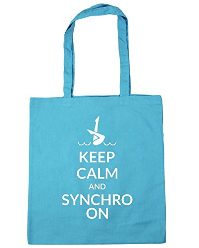 hippowarehouse-keep-calm-and-synchro-on-tote-shopping-gym-beach-bag-42cm-x38cm-10-litres