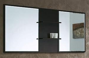 bathroom mirror with shelves finish espresso countertop bathroom