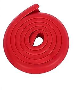 La vogue Protección Borde Esquina/Cinta De Mesa Mueble Para Protector Niño Bebé Infantil 25*25*8mm Rojo