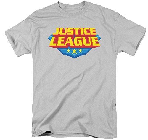 Justice League 8 Bit Logo T-Shirt