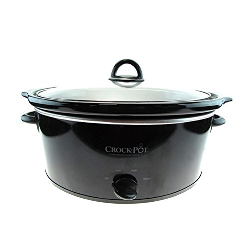 Crock-Pot SCV700-B2 - 7-Quart Black Oval Slow Cooker - Black (Certified Refurbished) (Crock Pot 7 Qt Lid compare prices)