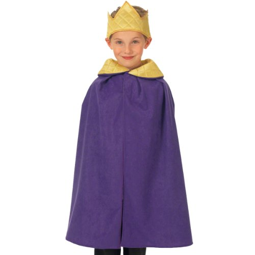 Purple King / Queen Cloak Costume for kids 3-9 Years