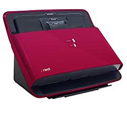 NeatDesk Desktop Document Scanner and Digital Filing System for PC and Mac - Premium Bundle Red