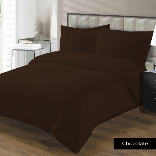 "600 Tc 4 Pc Sheet Set California King Size Solid Chocolate Fits Mattress Upto 21"" Deep By Jay'S Home Goods front-567649"