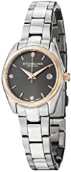 Stuhrling Original Women's 414L.04 Classic Ascot Prime Stainless Steel Bracelet Watch with Rose-Tone…