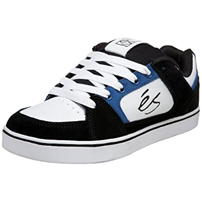 eS Men's Slant Technical Skate Sneaker,Black/Blue/White,9 M US