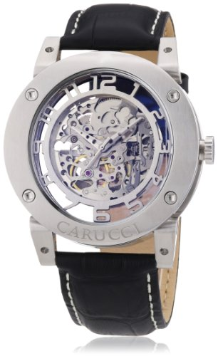 Carucci Watches Men's Automatic Watch Tavado II CA2207SL with Leather Strap