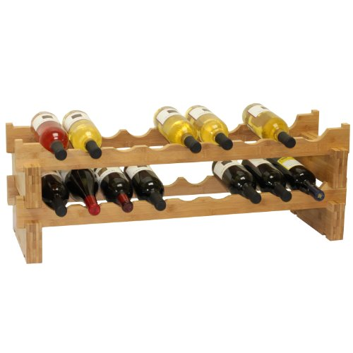 Oceanstar 18-Bottle Stackable Bamboo Wine Rack (9 Wine Rack compare prices)