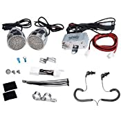 Amazon.com: Complete Pyle Weatherproof Mp3/ipod Powerful Speaker Kit for Motorcycle, Motorbike…