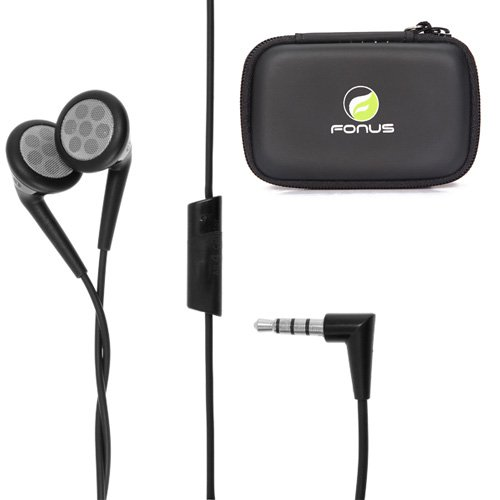 Oem Blackberry 3.5Mm Stereo Handsfree Headphones Dual Earbuds + Carrying Case For Nokia Lumia 1520, Lumia 520, Lumia 822