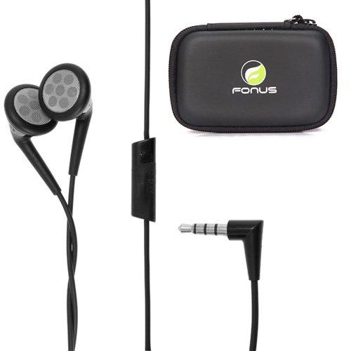 Oem Blackberry 3.5Mm Stereo Handsfree Headphones Dual Earbuds + Headset Carrying Case For Lg Optimus Showtime, Lucid 4G, G Flex, Google Nexus 4