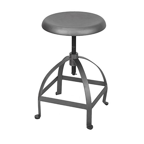 Industrial Chic Swivel Adjustable Height Bar Stool