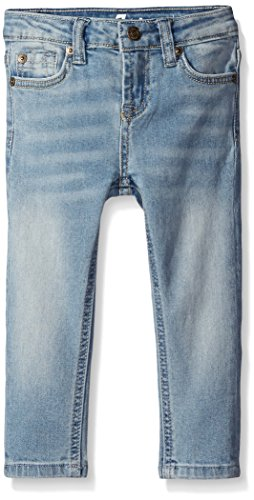 7 For All Mankind Little Girls The Skinny 5 Pocket Denim Jean, Slim Illusion Bright Ice, 5