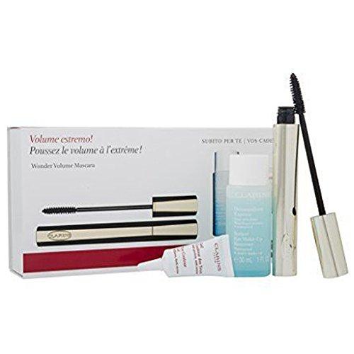 Clarins Wonder Volume Confezione Regalo 7ml Mascara 01 Nero + 30ml Instant Eye Struccante Occhi + 5ml Instant Correttore