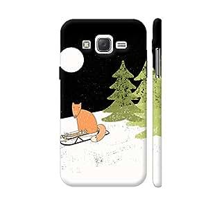 Colorpur Fox Animal Cute Watercolor Winter Night Designer Mobile Phone Case Back Cover For Samsung Galaxy J5 | Artist: UtART