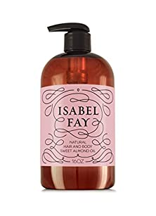 buy 16 Oz Top Quality Sweet Almond Massage Oil Fortified With Vitamin E - Isabel Fay - 100% Pure And Natural Body Oil - Daily Moisturizer For Body, Hair And Nails - Best Natural Moisturizer For Any Skin Type - Wonderful Oil For Massage
