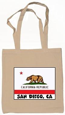 Souvenir San Diego California Tote Bag Natural