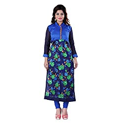 Fashion Galleria blue rose printed cotton kurti