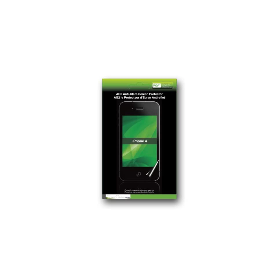 Green Onions Supply Anti Glare Screen Protector for Apple iPhone 4S & 4   2 Front Protectors + 1 Back Protector