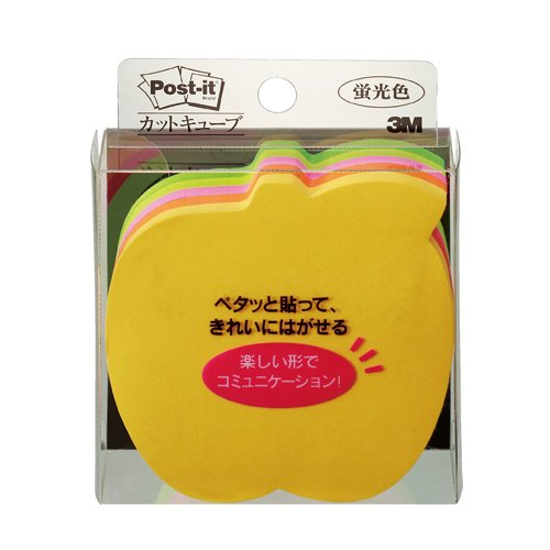 225 pieces of CC-36 cut-out fluorescent color / 5 color than 72 x 72mm Sumitomo (3M) Post-it (R) cube cut Apple