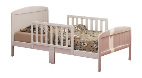 Russell Children Products Harrisburg Wood Toddler Bed, Warm White - 1