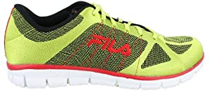 Fila Men's Speedweave Running Shoe,Lime Punch Fila Red/Black,12 M US
