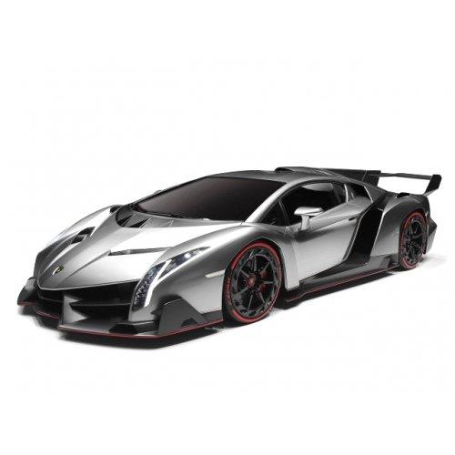 XQ Toys - Lamborghini Veneno radiocomandata in scala 1:32, Argento (silver)