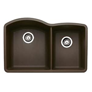 Blanco 440177 Diamond 1-3/4 Bowl Silgranit II, Um, Café Brown