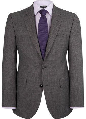 Austin Reed Regular Fit Grey Birdseye Jacket LONG MENS 48
