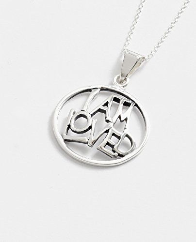 025. 'I Am Loved' Sterling Silver Necklace And Chain - In A Jewelry Presentation Box - Christian Gifts - Confirmation Gifts