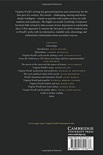 The Cambridge Companion to Virginia Woolf 2nd Edition Paperback (Cambridge Companions to Literature)