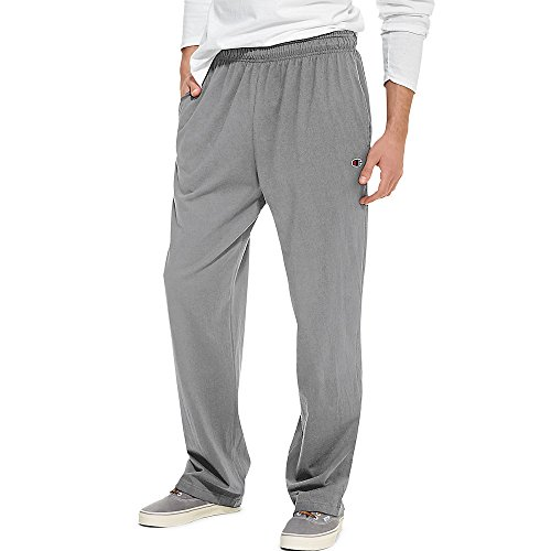 Hanes P7309 Mens Open Bottom Jersey Pants, Oxford Grey - Extra Large