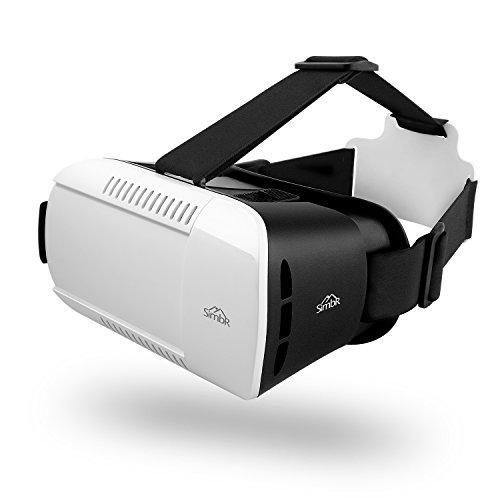 SIMBR VR gafas 3D Auriculares VR 3D Realidad virtual Caja con Ajustable Lente