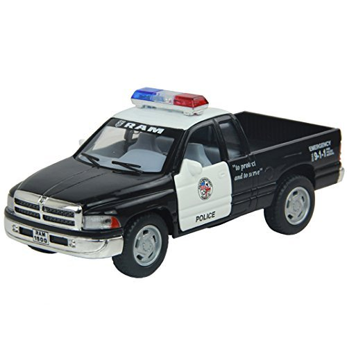 Diecast Cars 1:44 Dodge RAM Police Toy Cars