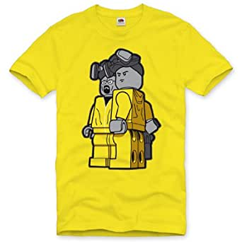Style3 t-shirt pour homme breaking bad heisenberg série breaking bad walter white crystal -  Jaune - L