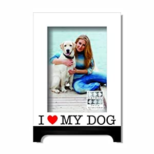 Sixtrees I Love My Dog Heart Luxury Frame, 5 by 7-Inch, Red by Sixtrees