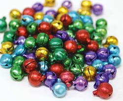 Multi-Colored Jingle Bells 72 pcs X 15mm