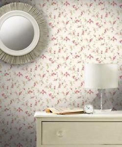 Coloroll Cosy Posy Wallpaper - Caramel Red from New A-Brend