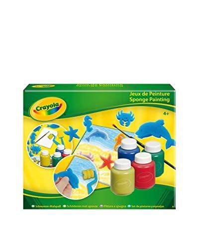 Crayola Core Set De Pinturas Y Esponjas