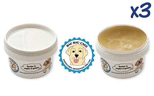 Bau Bau Cake 'Ice' (3x85g) - Gelato per cani di tutte le età, fresco snack estivo, alimento complementare senza glutine, ricco di fibre (Gusti misti)