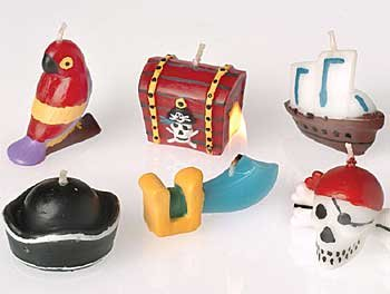 U.S. Toy Pirate Bithday Candles (set of 6