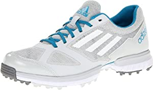 adidas Women's Adizero Sport Golf Shoe,Light Grey/Running White/Marine,6 M US