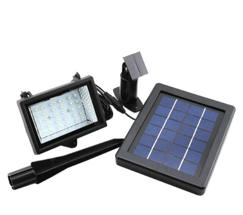 Nuoya001 Black Waterproof Outdoor Solar Light Power Cool White 30 Led Garden Landscape Lamp