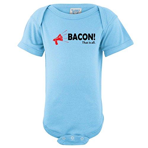 Shirtloco Baby Bacon! That Is All Onesie Bodysuit, Light Blue Newborn
