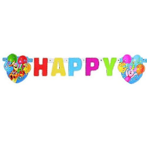 """Buchstabenkette """"Happy Birthday"""" Winnie Puh"""