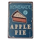 Apple Pie Tin Sign Vintage Metal Plaque Poster Bar Pub Home Wall Decor